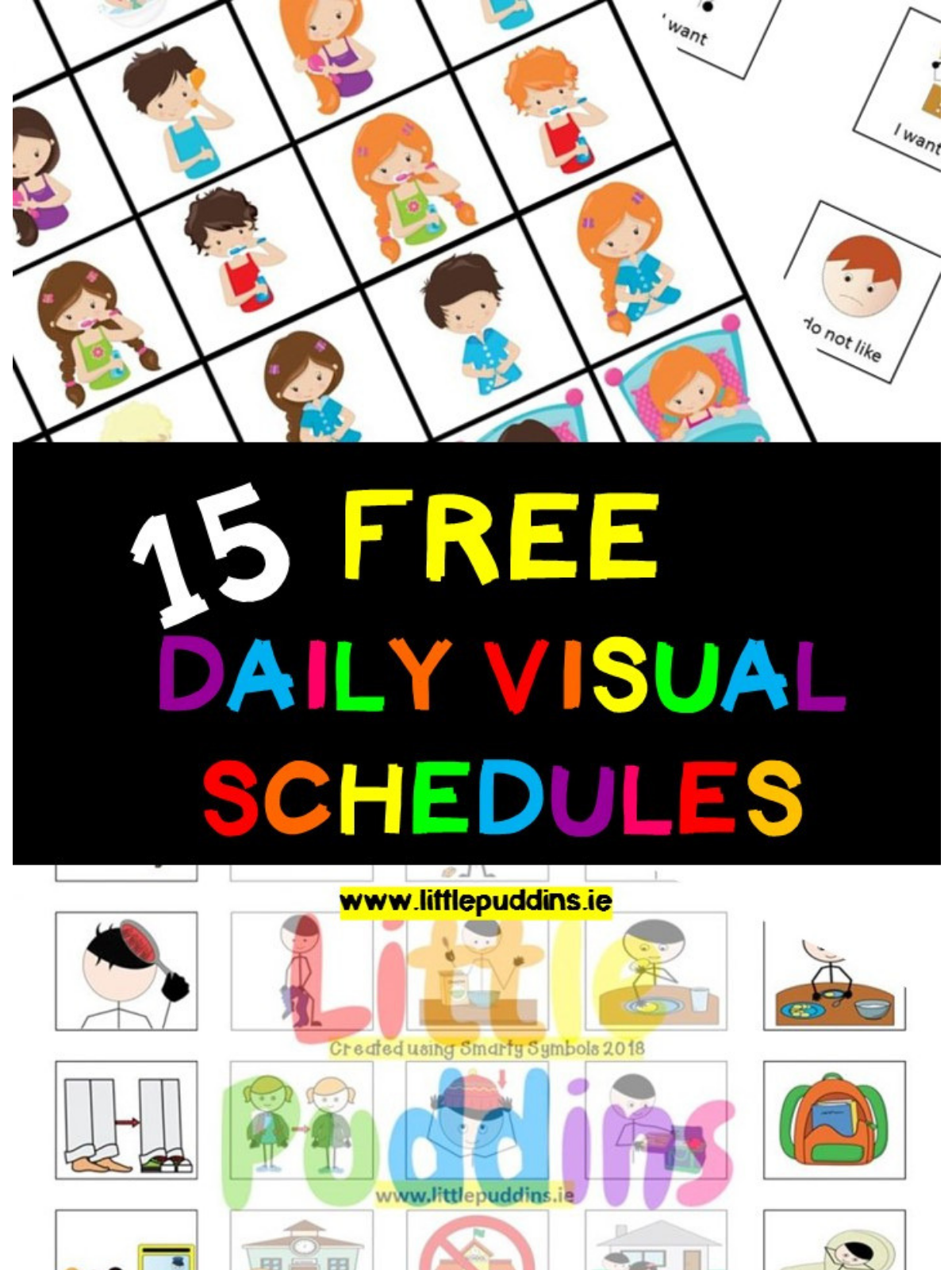 Free Visual Schedule Little Puddins