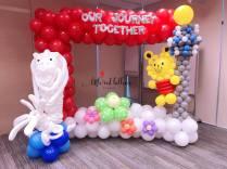 National Day theme balloon backdrop