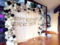 Organic Balloon frame and cloth backdrop