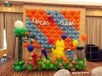 Sesame Street Balloon Backdrop