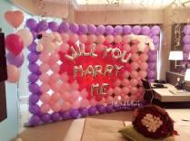 Wedding Proposal Balloon Backdrop