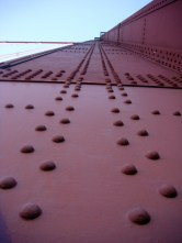 Golden Gate Bridge up close.