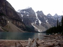 """Moraine Lake. Also known as """"Twenty Dollar View"""" because it used to appear on the backs of old $20 bills (1969 & 1979)."""