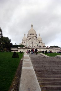 The walk up to Sacré-Cœur Basilica.