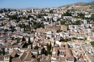 View from the Alhambra in Granada, Spain.