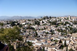 Amazing view of the Albayzín district from the Alhambra.