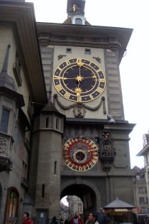 The famous clock tower of Bern.