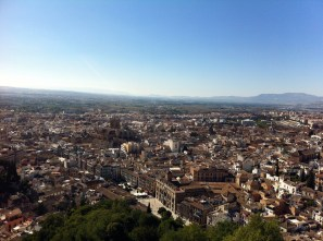 View from the Alhambra overlooking Granada. Amazing.