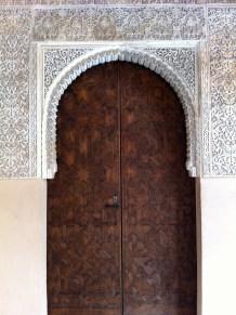 Not your average door. Alhambra, Granada, Spain.