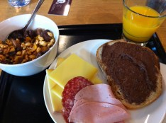 This was the breakfast at the Youth Hostel Interlaken. AMAZING. It's new but a bigger hostel so it doesn't have that cozy feel, but that meant that it's clean and you never had to wait to use the showers.