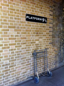 Made our way to King's Cross Station hoping to catch a ride to Hogwarts. (England)