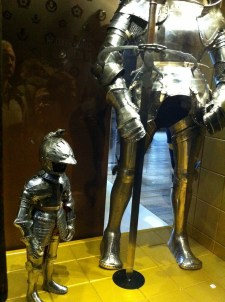 The smallest armor versus the tallest.