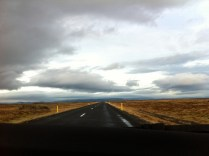 Highway to nowhere. Iceland.