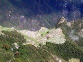 Zooming in on Machu Picchu.
