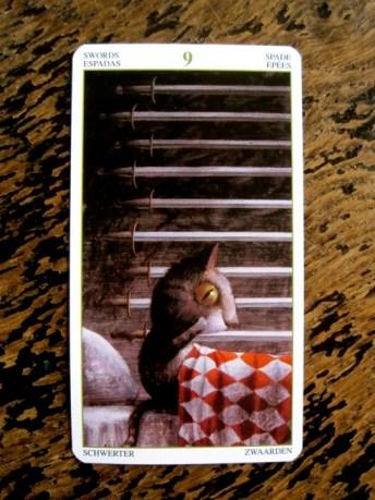 Nine of swords tarot card