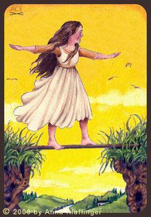 tarot wands Ace of Rods Anna K Tarot