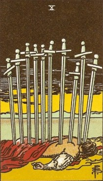 Ten of Swords tarot card