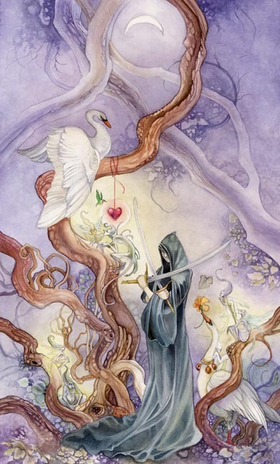 Two of Swords from the Shadowscapes Tarot by Stephanie Piu-Mun Law