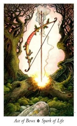 tarot wands Ace of Bows Wildwood Tarot