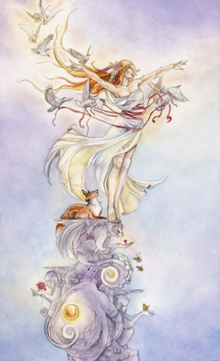 The Fool tarot card - Shadowscapes Tarot Stephanie Piu-Mun Law