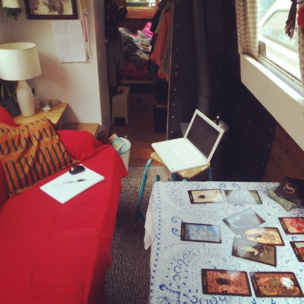 challenge 2. My reading space, onboard my boat, Swallow.