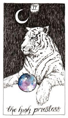 High Priestess tarot card Wild Unknown Tarot