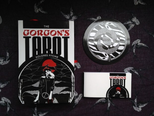 The Gorgon's Tarot - box, booklet and backs of cards