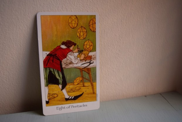 eight of pentacles dreaming way