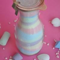 Salz färben - DIY mit Kreide