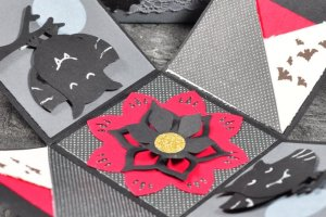 Explosionsbox mit Anleitung Halloween Stampin Up