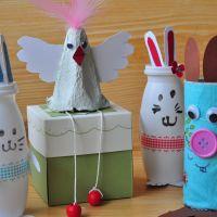 {Oster-Basteln mit Kindern} Einfache DIY-Ideen mit Hasen und Hühnern