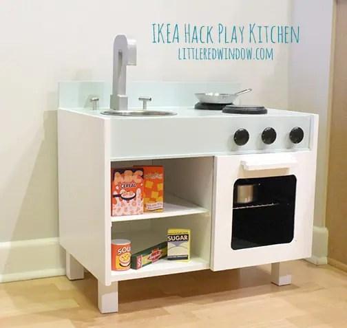 ikea hack play kitchen fridge and