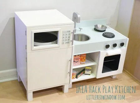 IKEA Hack Play Kitchen | Little Red Window