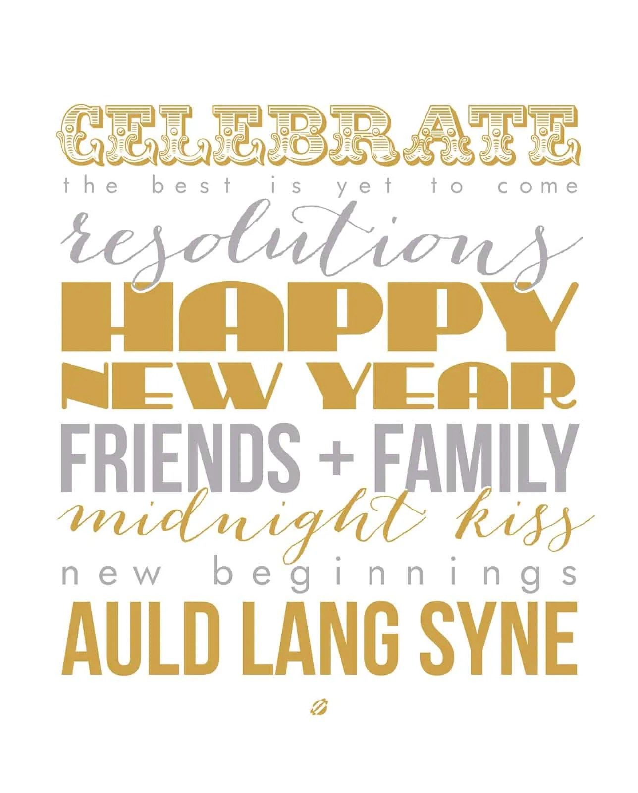 15 Free And Festive New Year S Printables