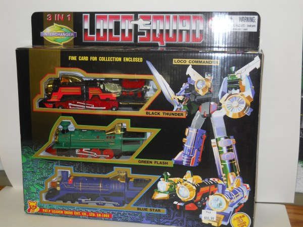 3 in 1 Train Transformers - Loco Squad