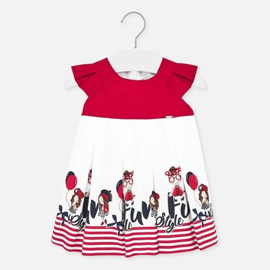 Rochie desene combinate bebe fetiță Mayoral