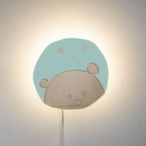 Lampa de perete Ursulet verde