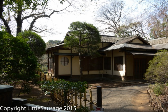 This tea house sits in the middle of the tranquil gardens overlooking the fishing lake.