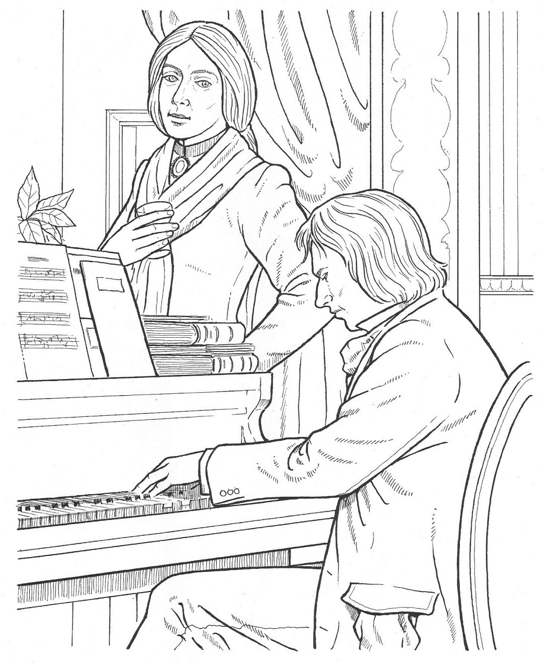 chopin - Composer Coloring