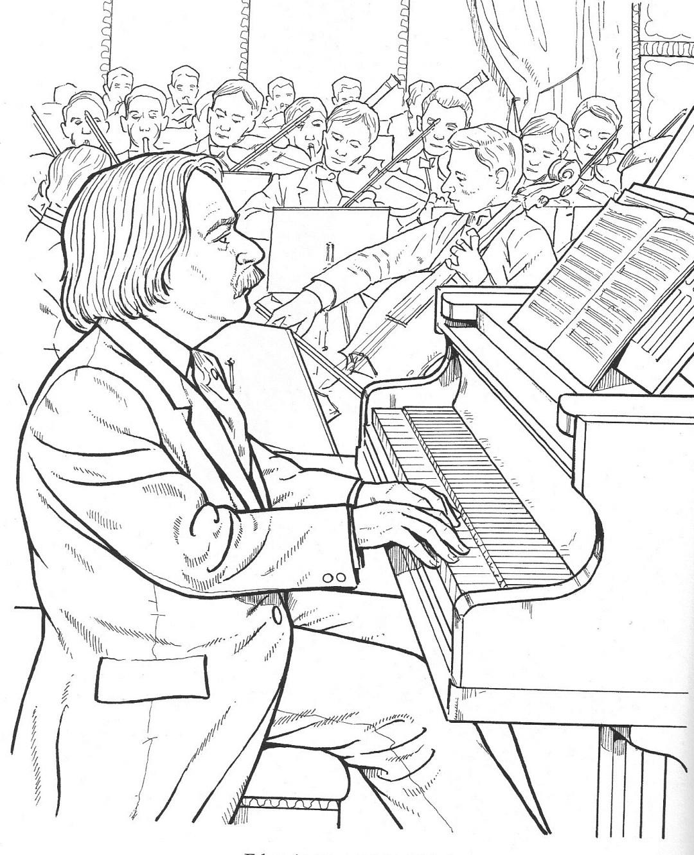 grieg - Composer Coloring