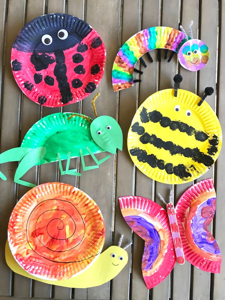 Little School of Smith's- paper plate bugs