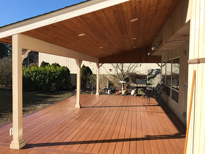 Enjoy Your Deck Year-round w/ a Cover | Littles Construction on Covered Back Deck Designs id=77781