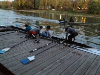 Young scullers in a quad - Cerea Rowing Club, Torino Italy