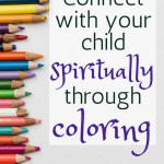You can enjoy coloring with your kids AND connect spiritually at the same time! #adultcoloring