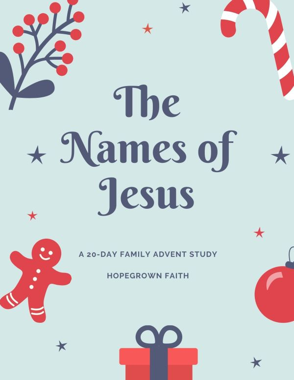 Names of Jesus, Advent Family Bible Study