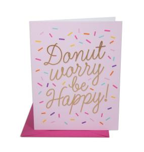 Stationery - Donut Worry Be Happy - The Social Type - Little Shop of WOW