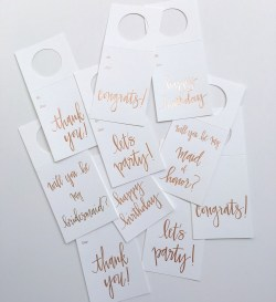 Foil Wine Tags - Chez Gagne - Little Shop of WOW