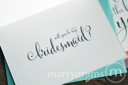 I can't tie the knot without you card bridesmaid - Marrygrams - Little Shop of WOW