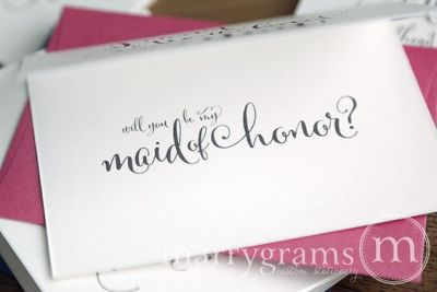 I can't tie the knot without you card maid of honor - Marrygrams - Little Shop of WOW