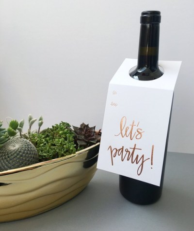 Let's Party Wine Tag - Chez Gagne - Little Shop of WOW